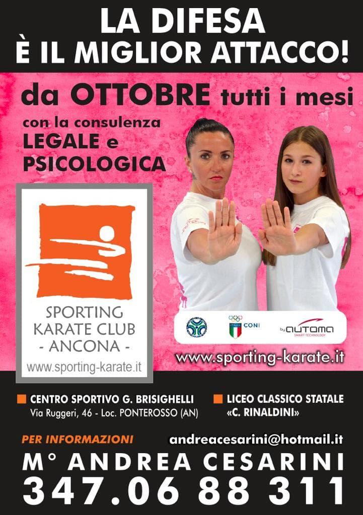 corso autodifesa donne sporting club karate locandina-2
