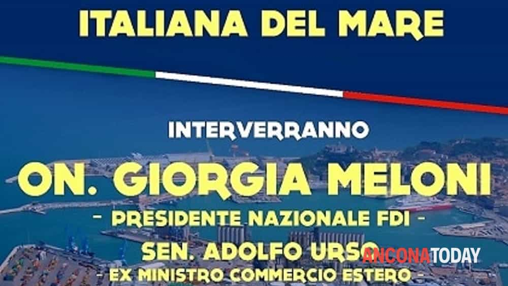 locandina giorgia meloni economia italiana del mare-3