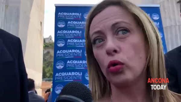 La Meloni ad Ancona tra turismo, impresa e ricostruzione - IL VIDEO
