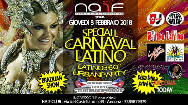 Carnival party, hot show brasiliano con ballerine e deejay set tutta la notte