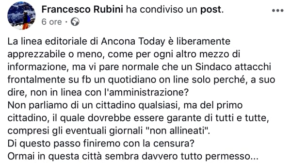 Post facebook io sto con AnconaToday2-3-2