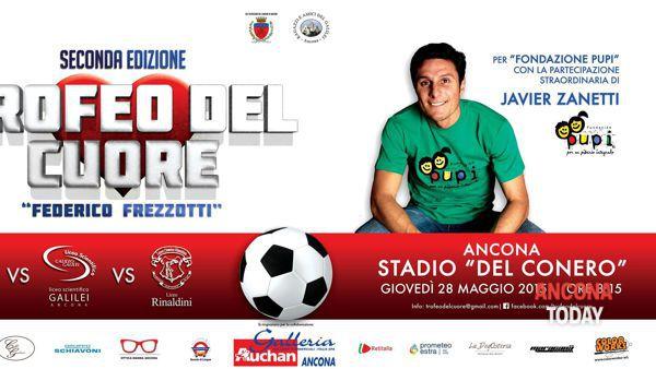 """Javier Zanetti superospite del """"Trofeo del Cuore"""" ad Ancona il 28 maggio"""