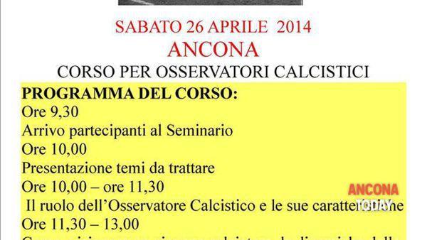 Ancona - arriva il corso per Osservatori di Calcio