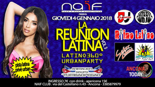 Reunion latina: balli caraibici e rimo caliente per il terzo capitolo del party