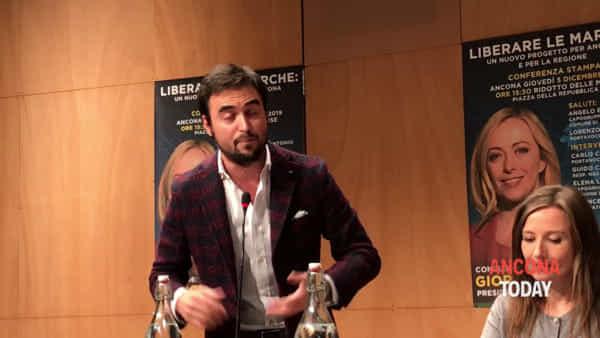 Meloni ad Ancona, stoccata di Eliantonio a Mancinelli e Sardine: «Controfigura del Pd» | VIDEO