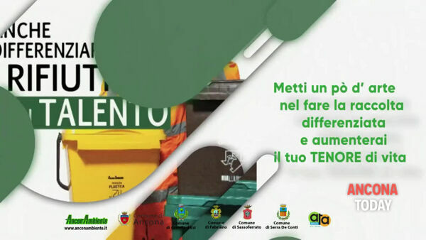 «Per differenziare serve talento»: lo spot AnconAmbiente con David Mazzoni | VIDEO