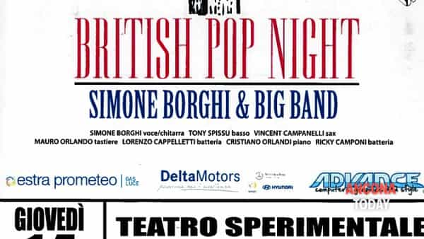 British pop night, un concerto per aiutare i malati oncologici
