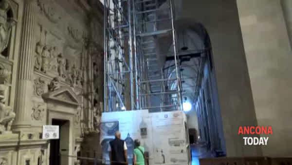 Il ponteggio estremo per restaurare la basilica di Loreto - GUARDA IL VIDEO