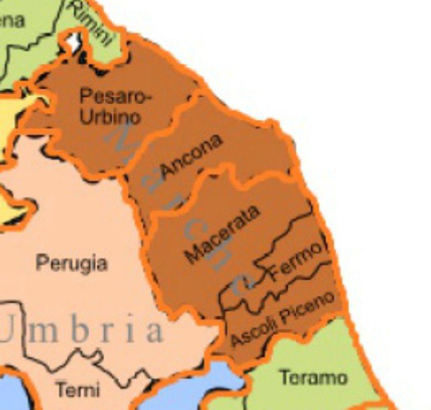 Marche Cartina Province.Province Il Governo Conferma L Assetto A Tre Per Le Marche